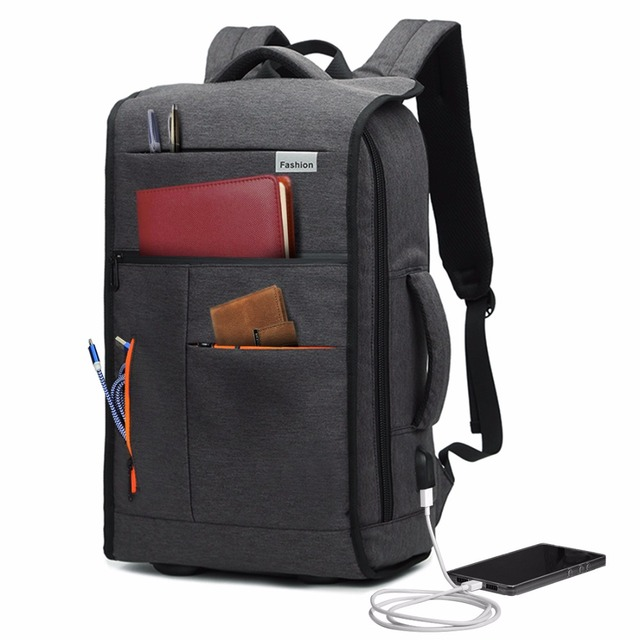4f7c7e39b Slim Business Laptop Backpack Travel Bag Computer Bag with USB Charging  Port fits up to 15.6
