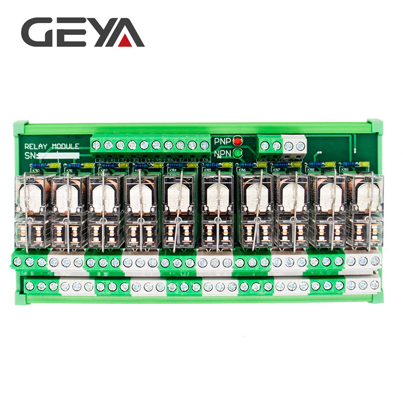 GEYA 2NG2R DPDT Relay 10 Channel Omron Relay Module 2NO 2NC Plug in Relay 12V 24V in Relays from Home Improvement
