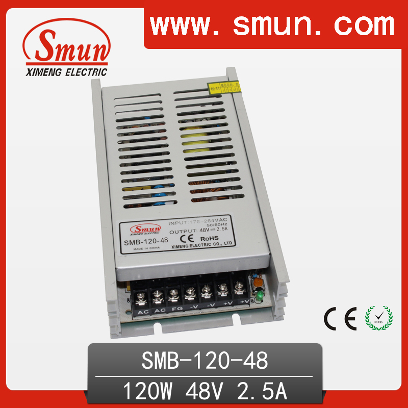 120W Ultra Thin Type Single Output Switching Mode Power Supply 48V 2.5A AC-DC Slim Led Driver SMB-120-48 встраиваемая акустика speakercraft profile accufit ultra slim one single asm53101 2