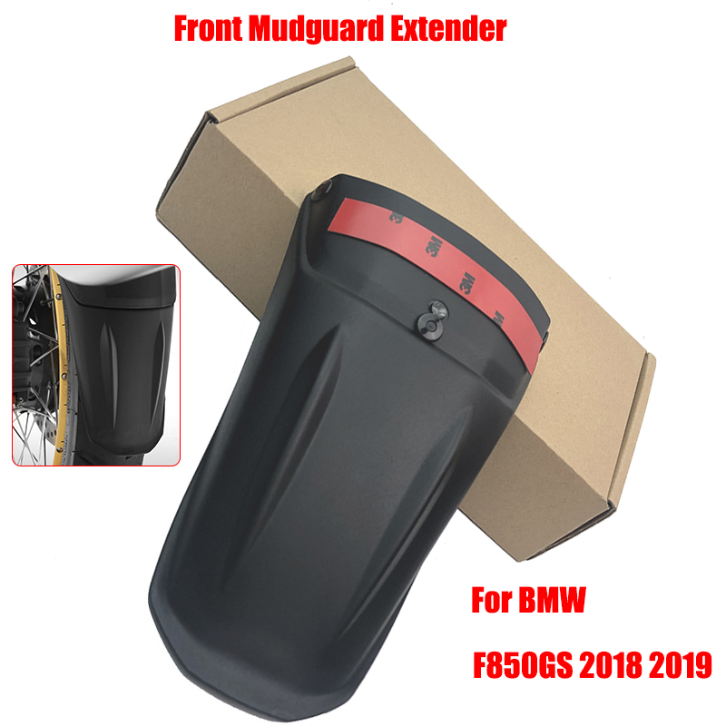 New Arrival! For BMW F850GS F 850 GS F850 GS 2018 2019 Motorcycle Black Front Mudguard Extender Fender Splash Extension Pad