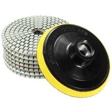 8 шт. Алмазные полировальные колодки 4 дюймов влажный/сухой набор для гранита, камня, бетона, мрамора