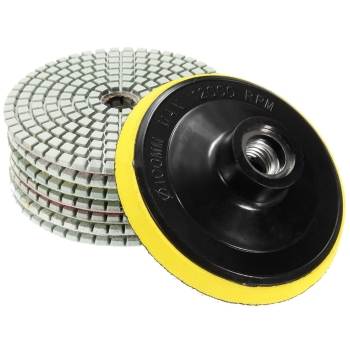 8Pcs Diamond Polishing Pads 4 inch Wet/Dry Set For Granite Stone Concrete Marble - discount item  30% OFF Power Tools