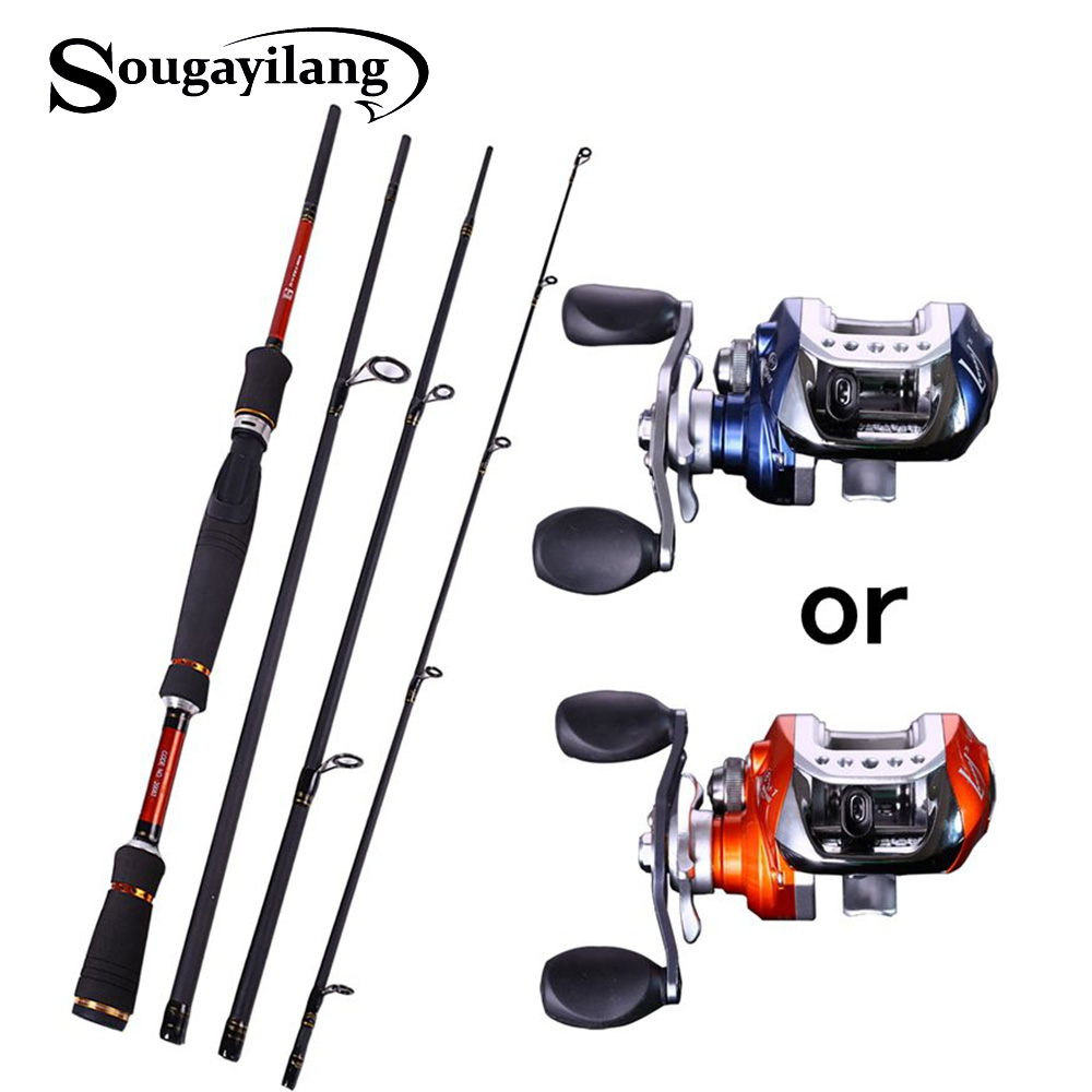 Sougayilang 4 Sections Fishing Rod Spinning 2 1m 2 4m 2 7m Carbon Spinning Rod and