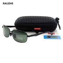 2019 High Quality Mens Metal Polarized Sunglasses Male Classic Exclusive Luxury Designer Sun Glasses UV400 Black Green TAC Lens