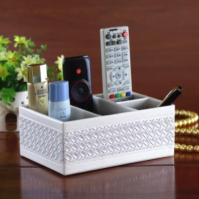 Из искусственной кожи рабочего журнальный столик дистанционный пульт ящик для хранения комод Многофункциональный Коробка для хранения