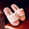 Новый 2016 Осень Зима для детей/ребенок/девочка/мальчик тапочки комфорт противоскользящие главная обувь сгустите плюшевые хлопок мягкой обуви