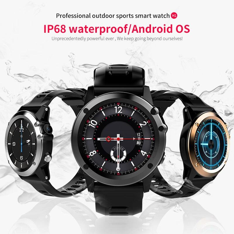 Smartch H1 Smart watch Android MTK6572 512MB 4GB ROM GPS SIM 3G Altitude WIFI IP68 waterproof 5MP Camera Heart Rate Smartwatch h1 smart watch android 5 1 os smartwatch mtk6572 512mb 4gb rom gps sim 3g heart rate monitor camera waterproof sports wristw