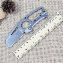 Outdoor multifunctional survival knife S35VN DPX solid blade tactical pocket hunting knife steel handlebar tools