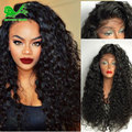 Heat Resistant Synthetic Lace Front Wigs Cheap Lace Front Wig Synthetic Hair with Baby Hair Curly Synthetic Wig for Black Women