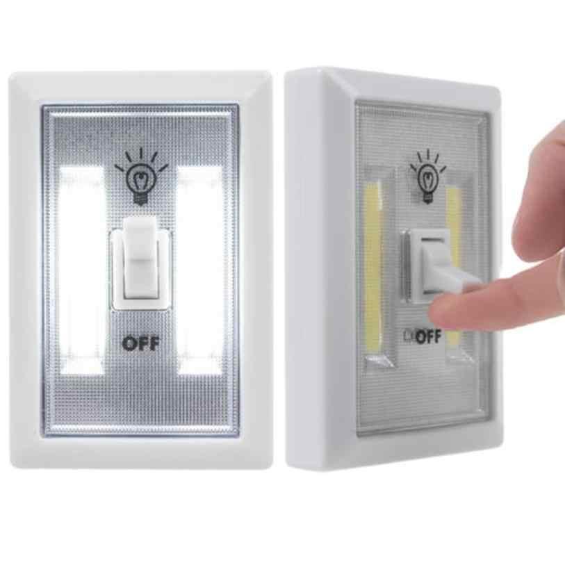 2017 Новый COB Светодиодный настенный освещенный переключатель беспроводной шкаф ночник Многофункциональный самопалка