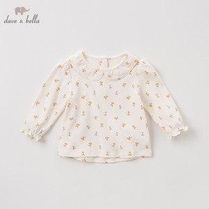 Image 1 - DBZ11143 1 dave bella primavera outono do bebê meninas floral bonito camisas infantil criança 100% algodão encabeça crianças roupas de alta qualidade