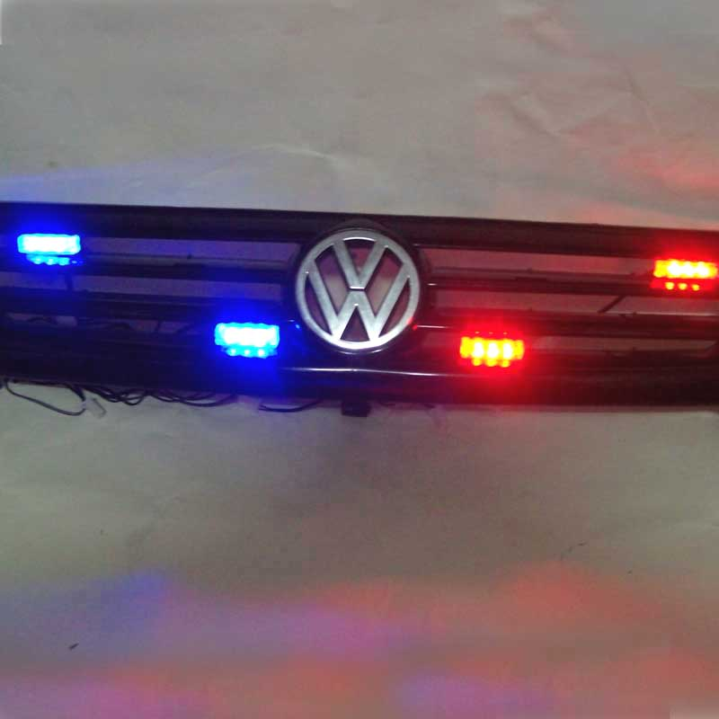 FUGSAME Car Red Blue White Green Amber Yellow 4x3 12LED Strobe Flash Warning Light Police Ambulance Light Flashing Lights DC12V in Signal Lamp from Automobiles Motorcycles