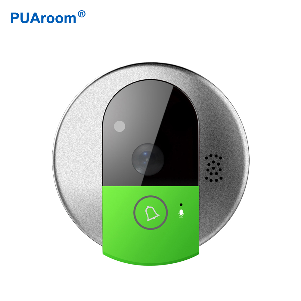 PUAroom HD 720P Wireless WiFi Security IP Door Camera Night Vision Two Way Audio Wide Angle Video Doorcam howell wireless security hd 960p wifi ip camera p2p pan tilt motion detection video baby monitor 2 way audio and ir night vision