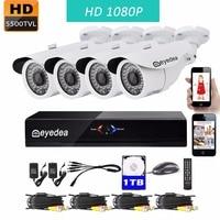 Eyedea 8 CH DVR Recorder HD 1080P 2 0MP 5500TVL CMOS IR 36 LED Night Vision