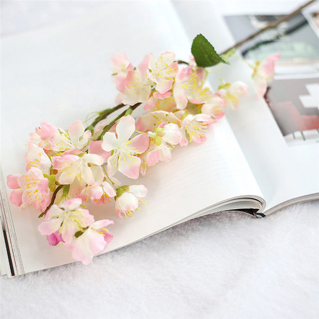 Online Shop 1PC Artificial Fake Flowers Leaf Cherry Blossoms ...