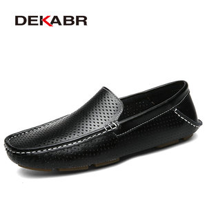 Image 5 - DEKABR 2021 גברים לנשימה עור אמיתי נהיגה גברים נעלי קיץ סתיו באיכות נעליים יומיומיות גברים Sapatos Masculinos