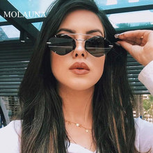 MOLAUNA New Fashion Rimless Sunglasses Women Brand Designer Driving Shades Sun Glasses For Women Retro Mirror Glasses Oculos molauna round sunglasses women brand designer retro sun glasses for women fashion mirror shades female glasses oculos de sol