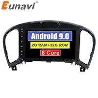 Eunavi Eunavi 2 din Android 9.0 Octa Core Car DVD Player for Nissan Juke for Infiniti ESQ 2011 2017 Car GPS Navigation Stereo