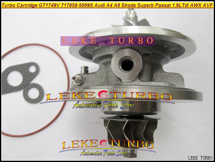 Turbo cartridge CHRA GT1749V 716215 712077 717858 038145702 038145702X 038145702V for VW Passat B5 1.9L TDI AWX AVF BLB 130HP turbo chra cartridge core gt1749v 717858 5009s 717858 0005 717858 for audi a4 a6 for skoda superb for vw passat b6 awx avf 1 9l