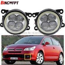 2x Super Bright Angel Eyes White Blue Led Fog Lamps fog light For Citroen C4 Coupe LA_ LC_ 2004-2011