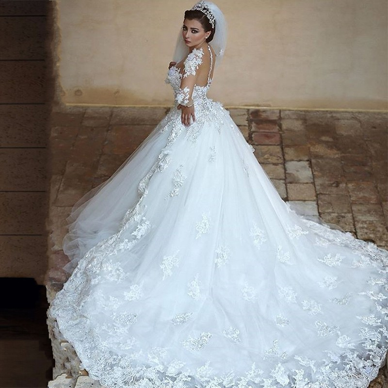Buy saudi arabia new removable train ball for Wedding dress with removable train