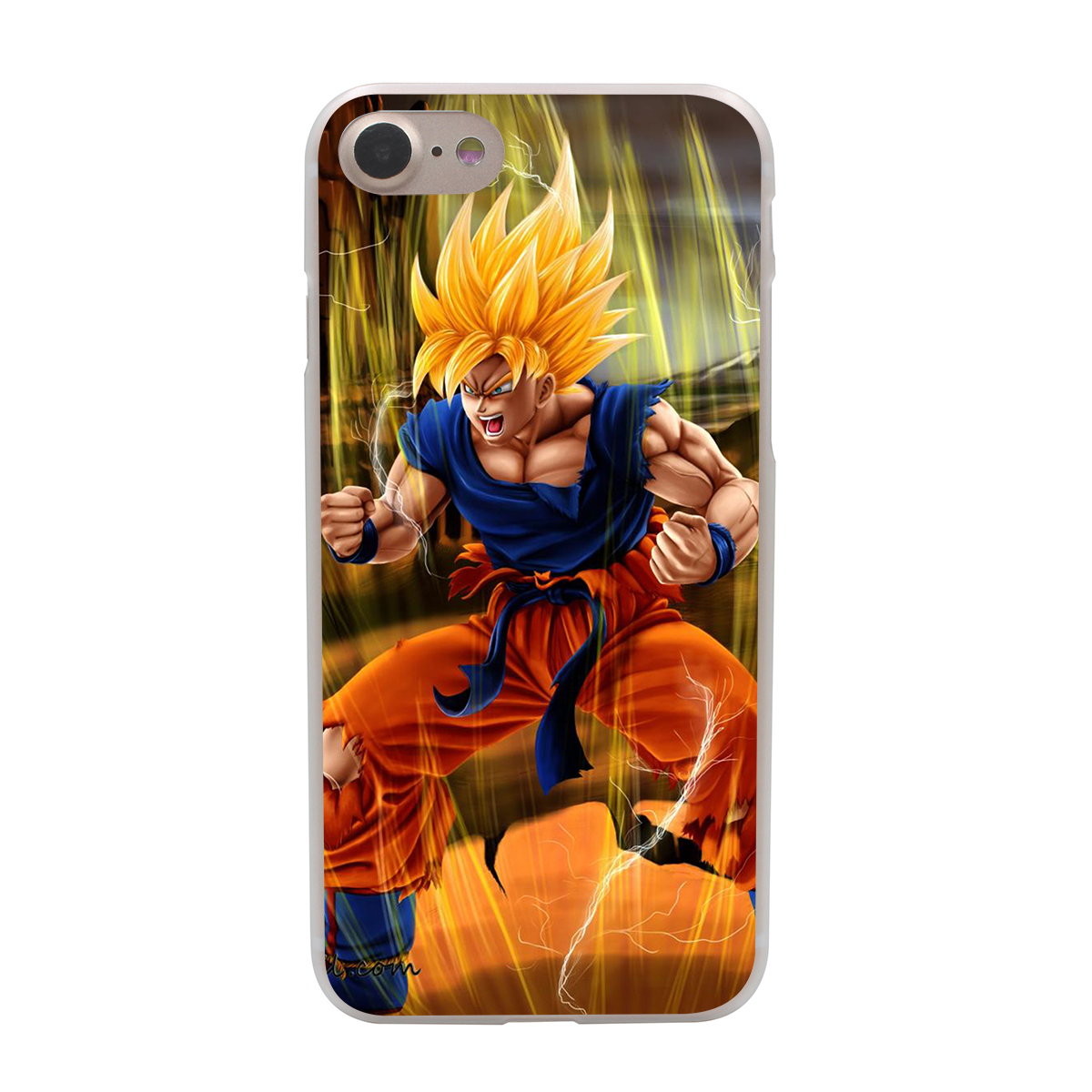 dragon ball z goku hard phone cover case transparent for apple iphone 7 7 plus 6 6s plus 5 5s se. Black Bedroom Furniture Sets. Home Design Ideas