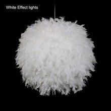 Modern Pendant Light Romantic Dreamlike Feather Droplight Bedroom Hanging Lamp Lamparas E27 110-240V