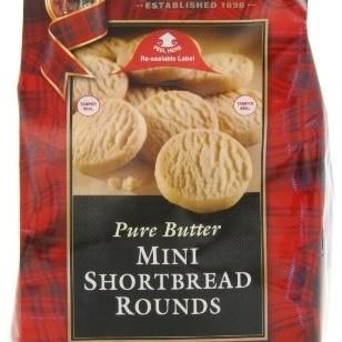 Walkers Shortbread Mini Shortbread Rounds, 4.4-Ounce Bags (Pack of 6) talkingrain sparkling water lemon lime 16 9 ounce pack of 24