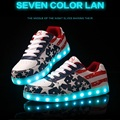 American Style Women and Men Dance Shoes Nightclub Fashion Led Shoes Usb Rechargeable Lace Up Casual Shoes G51 35