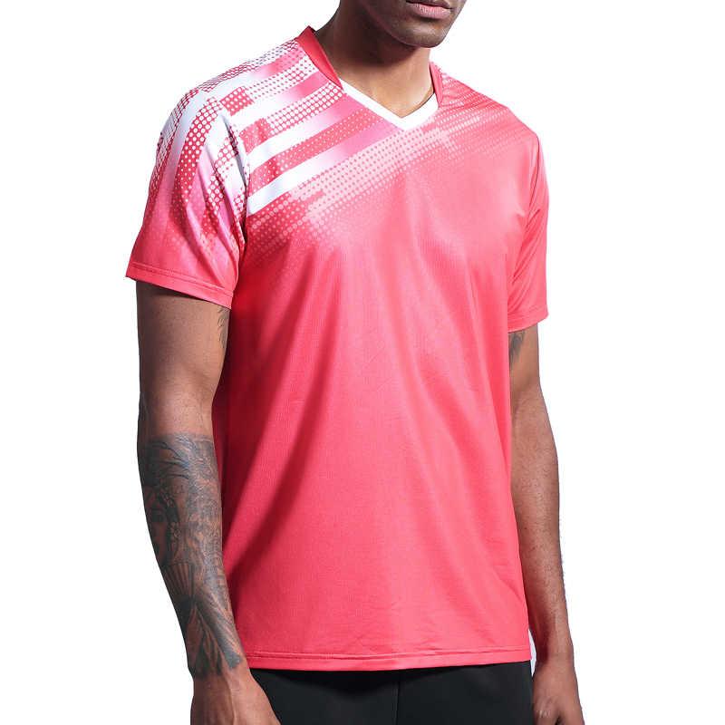 2019 Мужская и женская спортивная рубашка для бега быстросохнущие дышащие рубашки для бадминтона и настольного тенниса командная игра Фитнес тренировочные футболки