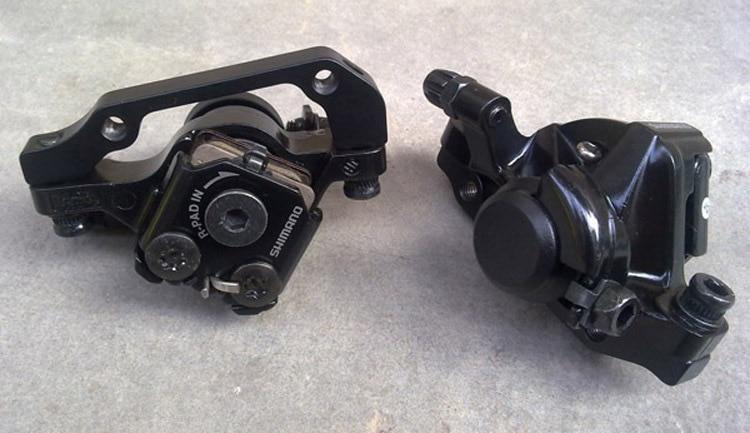 SHIMANO BR-M375 Mechanical Disc Brake Caliper Set MTB Bicycle Front+Rear Black