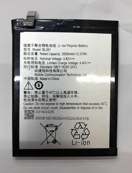 3500mAh New Phone Battery BL261 For Lenovo Music Lemon K5 Note K52t38 K52e78 Moblie Phone in Mobile Phone Batteries from Cellphones Telecommunications