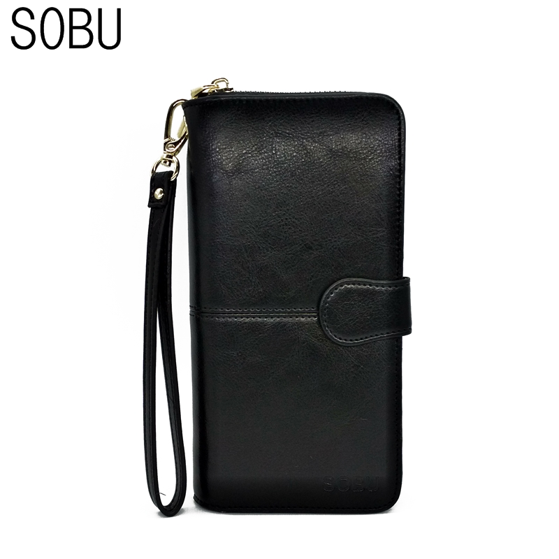 2017 High Quality European Large Genuine Cowhide Leather Women Wallets Fashion Long Female Woman Wallet Ladies Purses K111 цена и фото