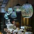 Lámparas colgantes de decoración de desván para la casa de campo, cocina, dormitorio, comedor, Bar decoracao quaro, lámpara colgante Industrial retro de vidrio Led