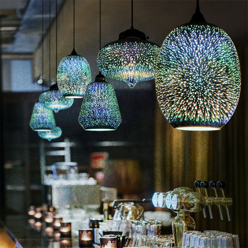 Loft Decor Pendant Lights For Farmhouse Kitchen Bedroom Diningroom Bar decoracao quarto Led Glass Industrial retro pendant Lamp
