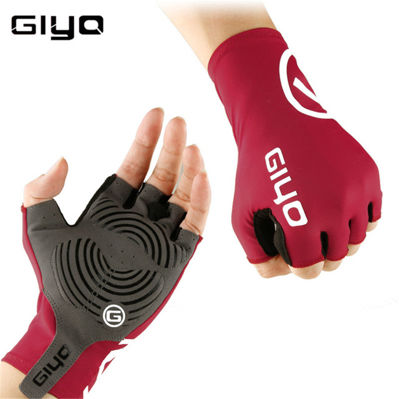 GIYO Cycling Gloves Breathable Half Finger Gel Pad Sport Gloves Summer Biking Fingerless Anti-slip Riding Wristbands Glove mtwe9018 anti slip half finger bicycle riding cycling gloves blue grey black xl size pair