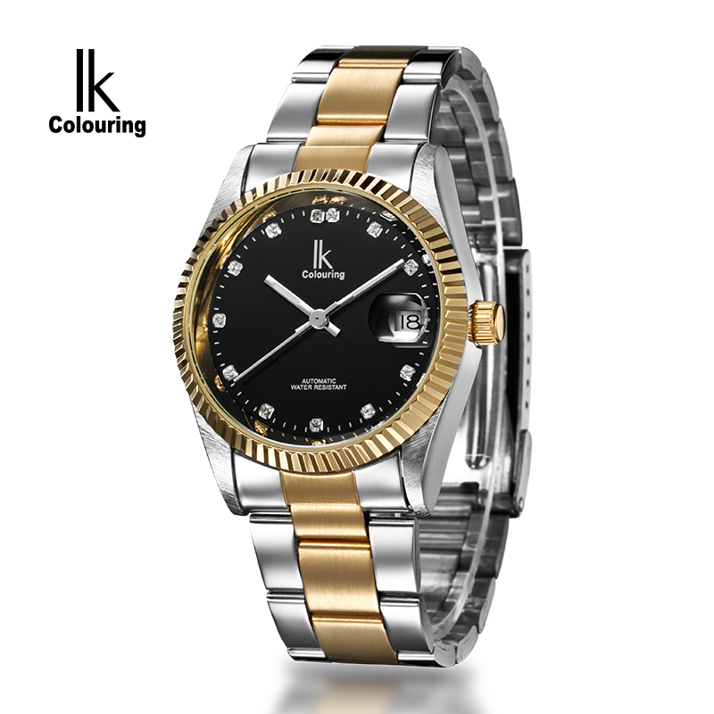 2017 IK Casual Relogio Masculino Men's Day Crystal Watches Auto Mechanical Wristwatch Orignial Box Free Ship ik 2017 luxury men s relogio masculino skeleton dial horloge auto mechanical wristwatch original box free ship