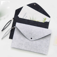 10pcs New A4 Hand Rope Document Bag Business Briefcase File Folders Felt Filing Products Office School Supplies Paper Organizer