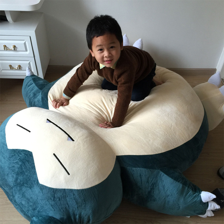 Christmas gift 150CM Snorlax super big Tatami high qualit stuffed soft Plush Toy cute Plush pillow Anime Doll For Children