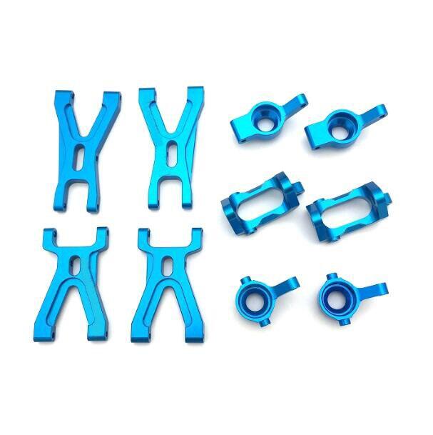 1 ensemble de pièces de mise à niveau en métal de support de moyeu de bras de Suspension avant/arrière pour WLtoys A959 A969 A979 K929 949 1/18 modèle de voiture RC
