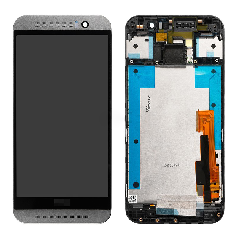 Smartphone High quality For HTC One M9 LCD Display Touch Screen Digitizer Panel Assembly With Frame free shipping new lcd display touch screen digitizer assembly for htc one m9 with frame replacement free shipping