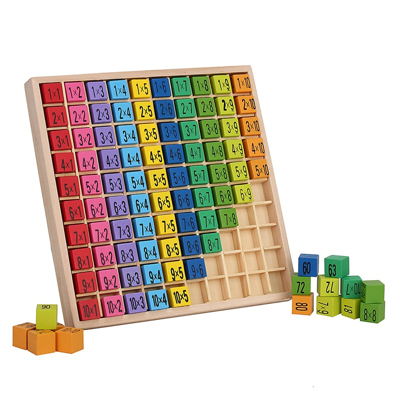 JIMITU 99 Multiplication Table Math Toy Wooden 10*10