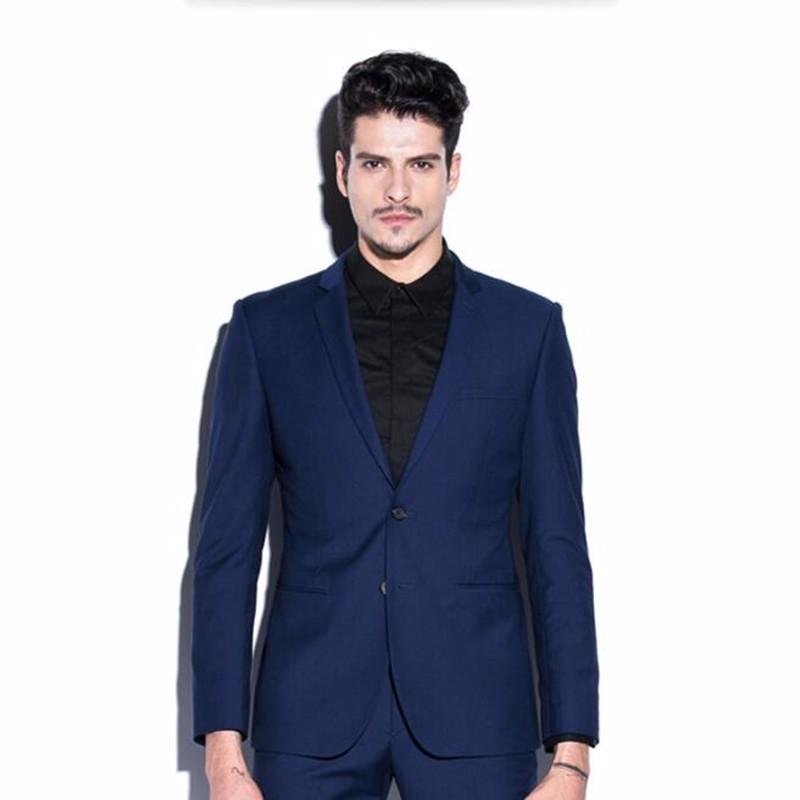 4.1Blue men suits jacket high quality men\'s wedding tuxedos jacket latest design stylish formal business suits jacket