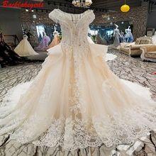 00280 2018 Sexy V-neck Sleeveless Tassel Wedding Dress