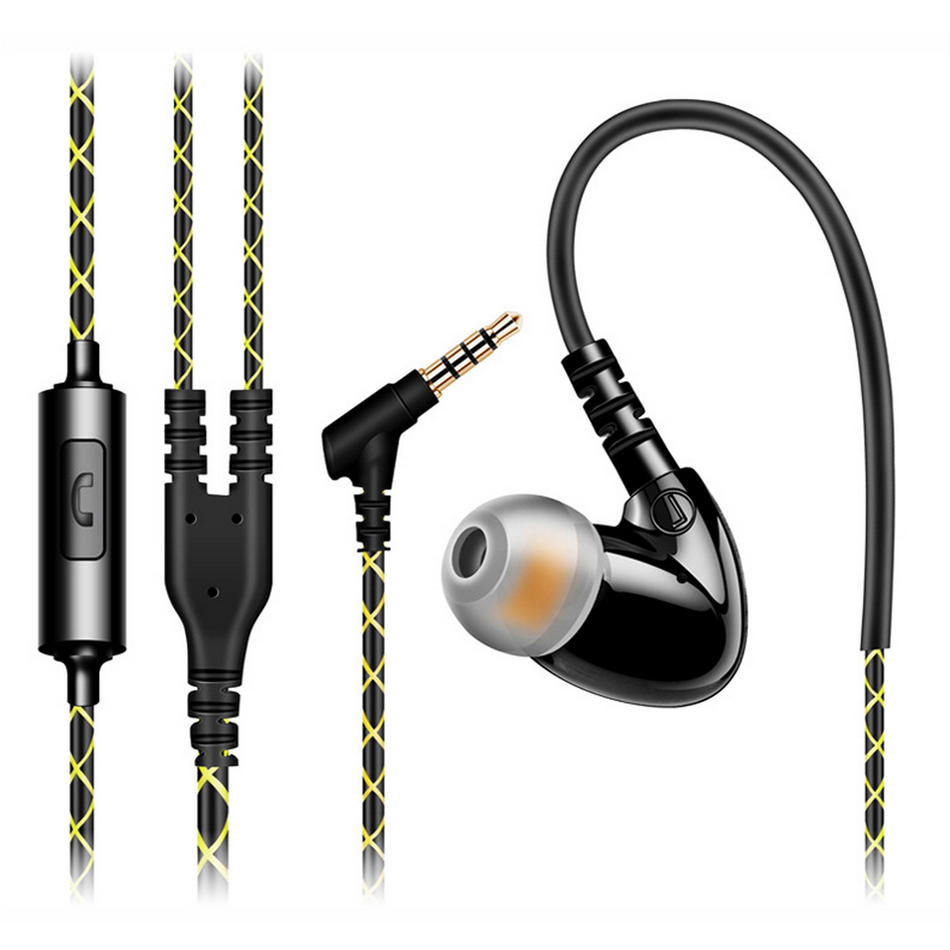 Original Sports Head phones Mobile Phone In ear Earphones HIFI +Mic Noise Cancelling Bass Stereo Headsets Quality Sound hot high quality sports stereo earphones with mic 3 5mm universal use for mobile phones mp3 mp4 gg11101