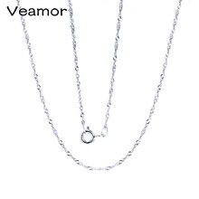 Классическая простая цепочка Серебро 925 пробы ожерелье с застежкой-карабином цепочка модные ювелирные изделия 925 Серебряный простая цепочка
