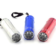 9 led Mini Flashlight white Led Lamp Protable small pocket Flash Light torch penlight keychain high powerful for hiking camping(China)