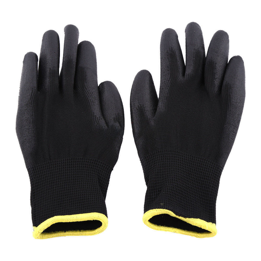 M... 24 PAIRS NEW LATEX COATED WORK GLOVES SAFETY DURABLE GARDEN GRIP BUILDERS