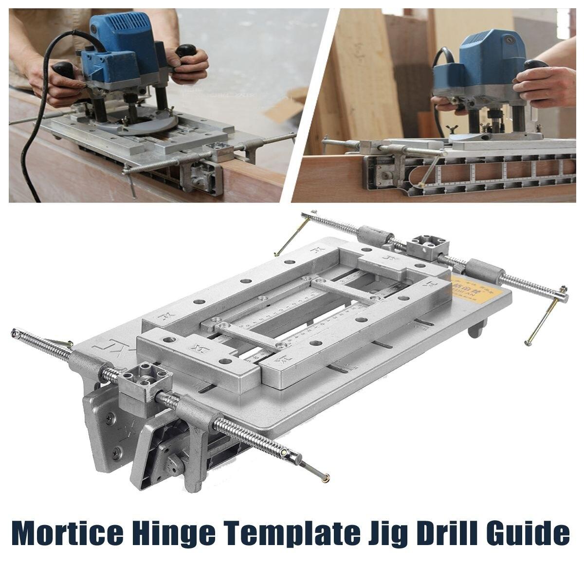 Новый высокое качество древесины триммер маршрутизатор дверной замок Mortice петля шаблон джиг дрель Руководство