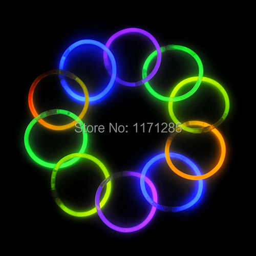 fluorescent bracelets flashing stick night glow sticks glow bracelet children toy party toys for. Black Bedroom Furniture Sets. Home Design Ideas